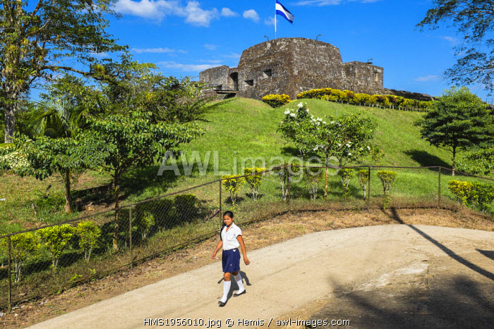 Nicaragua, Rio San Juan Department, the little village of El Castillo along the Rio San Juan, the fortress or Fortaleza de la Limpia Pura e Inmaculada Concepci�n