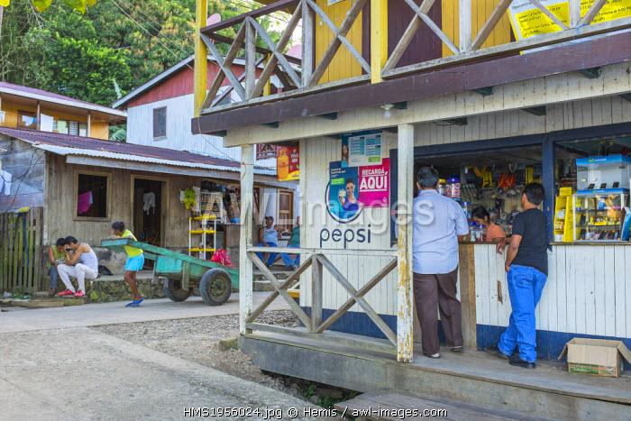 Nicaragua, Rio San Juan Department, the little village of El Castillo along the Rio San Juan