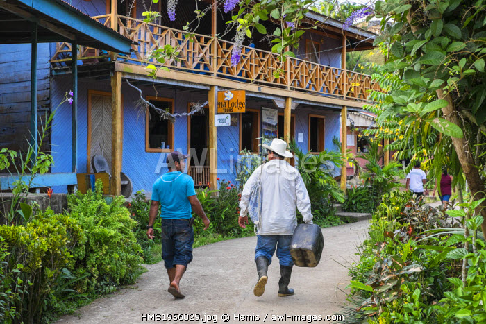 Nicaragua, Rio San Juan Department, the little village of El Castillo along the Rio San Juan