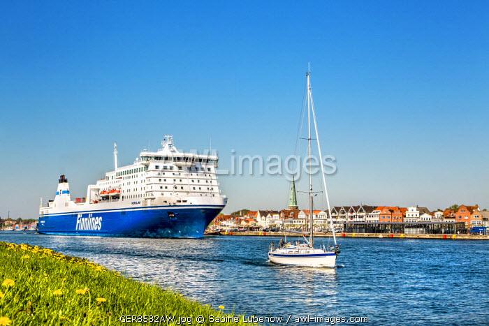 Skandinavien ferry, Travemünde, Lübeck, Baltic coast, Schleswig-Holstein, Germany