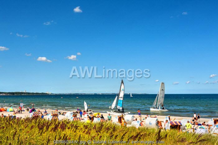 Beach, Scharbeutz, Baltic coast, Schleswig-Holstein, Germany