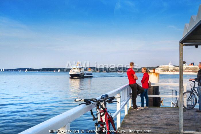 Ferry boat, Kiel fjord, Kiel, Baltic coast, Schleswig-Holstein, Germany