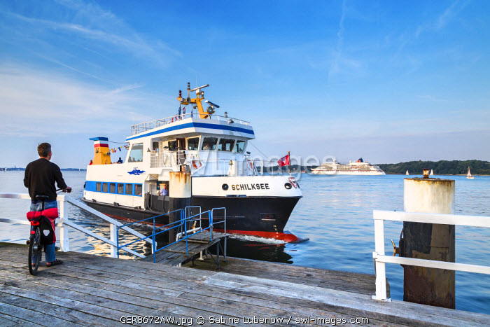 Ferry boat, Kiel fjord, Kiel, Baltic coast, Schleswig-Holstein, Germany
