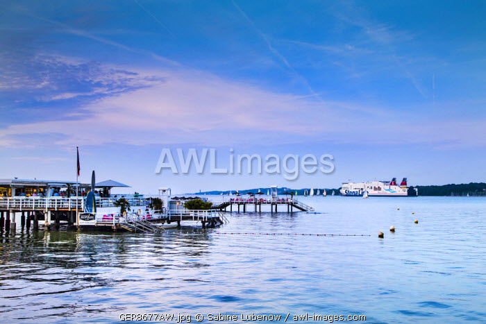 Pier, Kiel fjord, Kiel, Baltic coast, Schleswig-Holstein, Germany