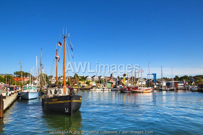 Marina, Laboe, Kiel fjord, Baltic coast, Schleswig-Holstein, Germany