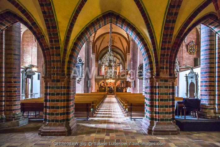 Interior, cathedral, Schleswig, Baltic coast, Schleswig-Holstein, Germany