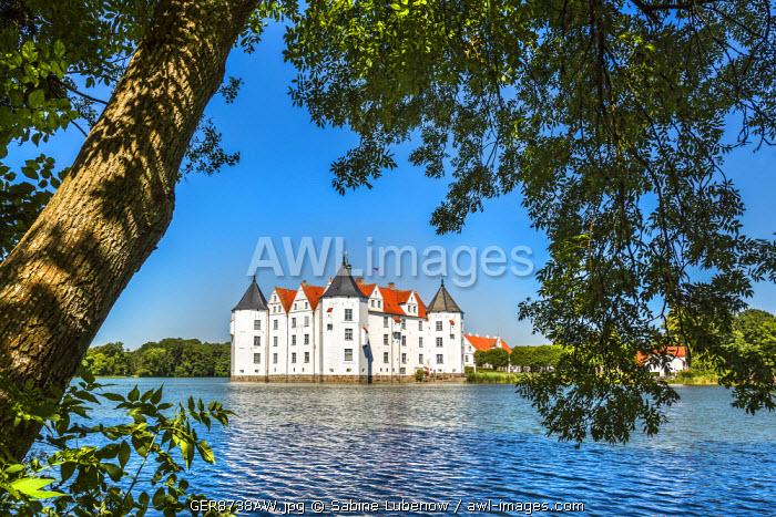 Castle Glücksburg, Flensburg fjord, Baltic coast, Schleswig-Holstein, Germany