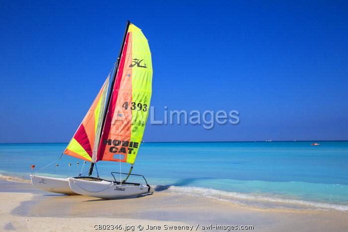 Cuba, Varadero, Catamaran on Varadero beach