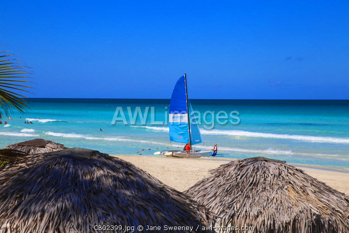 Cuba, Varadero, Catamarans on Varadero beach