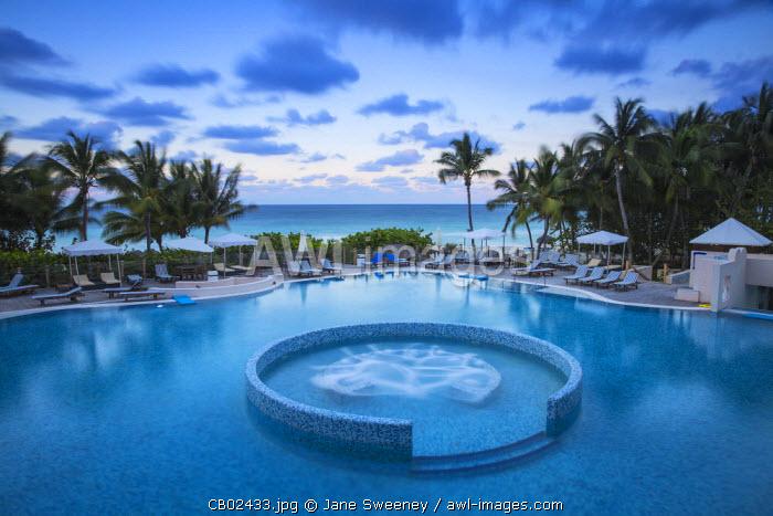 Cuba, Varadero, Swimming pool at The Melia Las Americas Hotel on Varadero beach