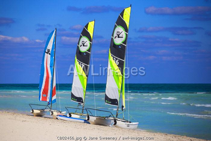 Cuba, Varadero, Catamarans on Varadero beach