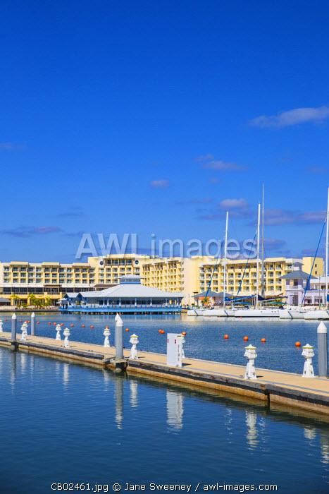 Cuba, Varadero, View of Marina and Melia Marina Varadero Hotel