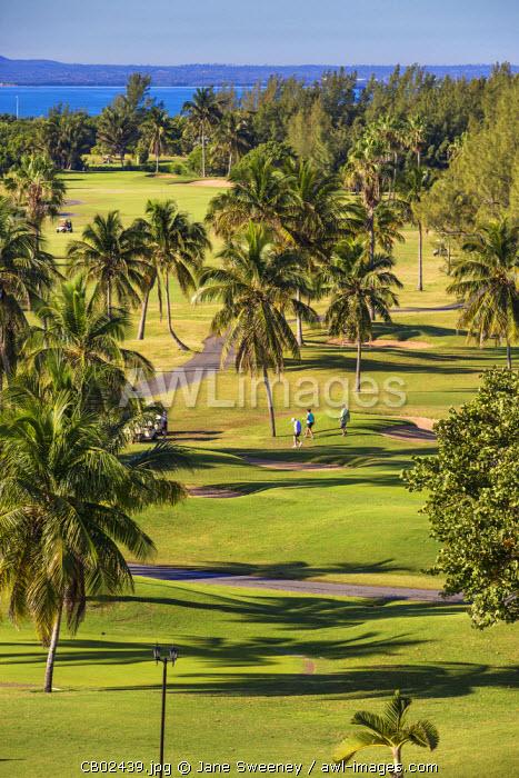 Cuba, Varadero, Golfers at Varadero Golf Course