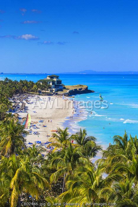 Cuba, Varadero, View over Varadero beach towards Xanadu mansion