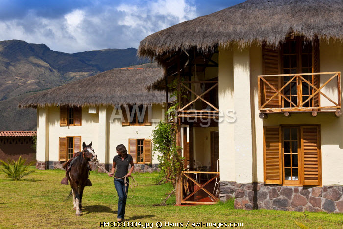 Peru, Cuzco Province, Huasao, Hacienda Ninos Hotel is one of the three hotels subsidizing the Ninos Unidos Peruanos Charitable Foundation which is in charge of 600 street children, the founder Jolanda van den Berg