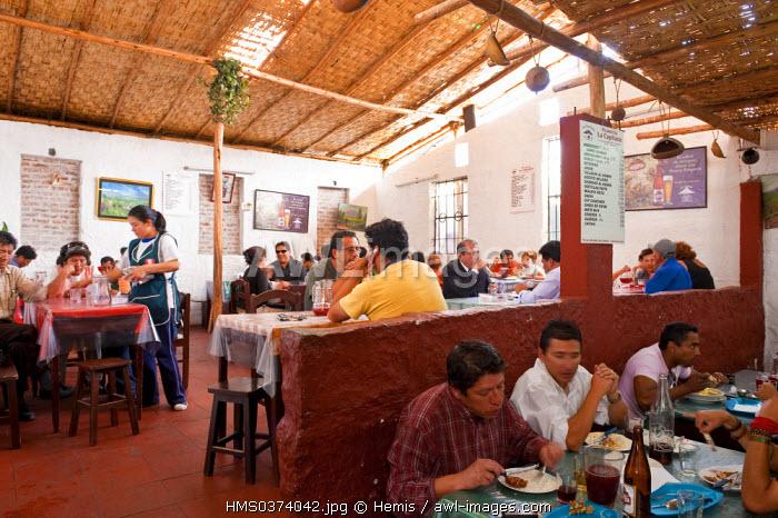Peru, Arequipa Province, Arequipa, Picanteria La Capitana, basic restaurant
