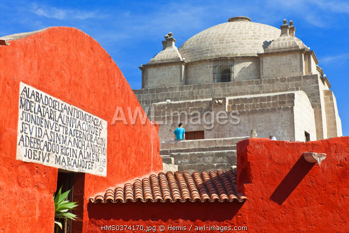Peru, Arequipa Province, Arequipa, historical center listed as World Heritage by UNESCO, Santa Catalina Monastery founded in 1530, is still inhabited by 30 Dominican nuns