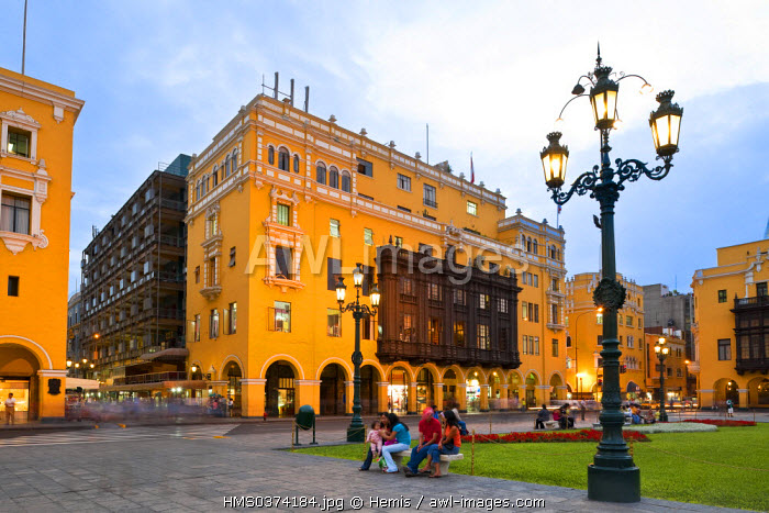 Peru, Lima, historical center listed as World Heritage by UNESCO, Plaza de Armas