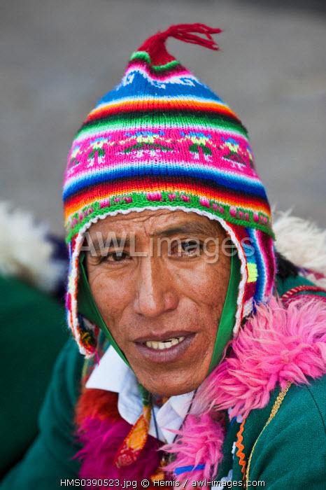 Peru, Cuzco Province, Cuzco, listed as World Heritage by UNESCO, Plaza de Armas, Holy Week, folk dancing