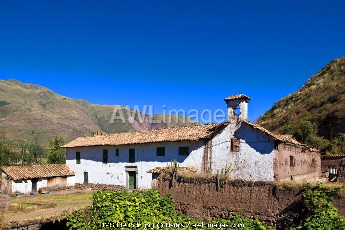 Peru, Cuzco province, Huasao, listed as mystical tourist village, hacienda built in the 18th century