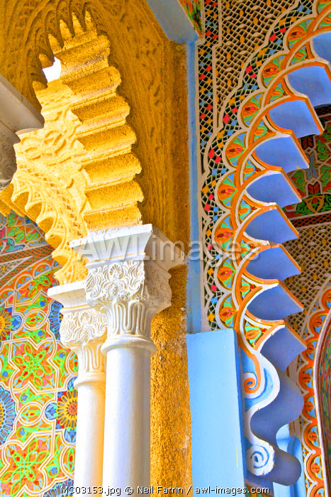 www interior details of continental hotel tangier