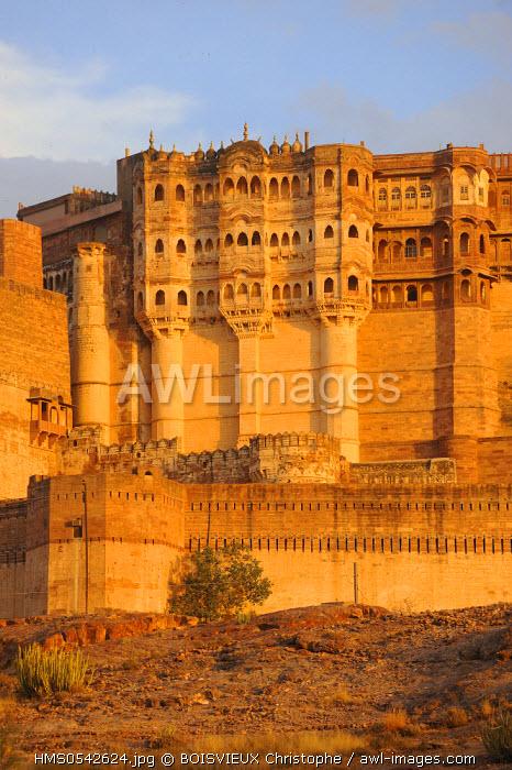 India, Rajasthan State, Jodhpur, Mehrangarh fort