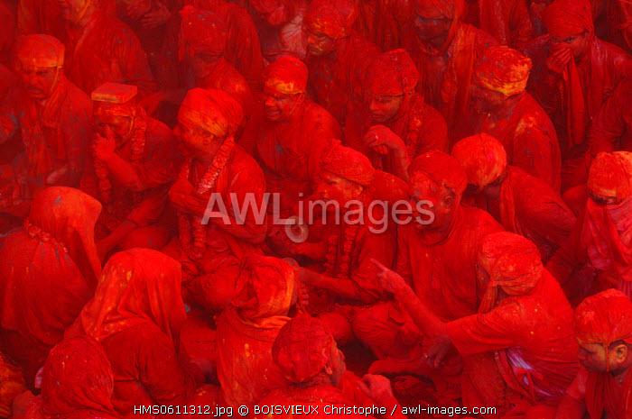 India, Uttar Pradesh state, Holi festival, Colour and spring festival celebrating the love between Krishna and Radha