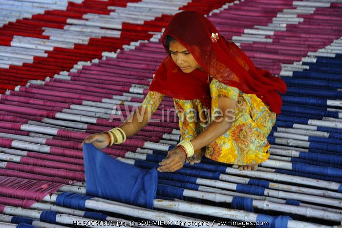 India, Rajasthan state, saree factory