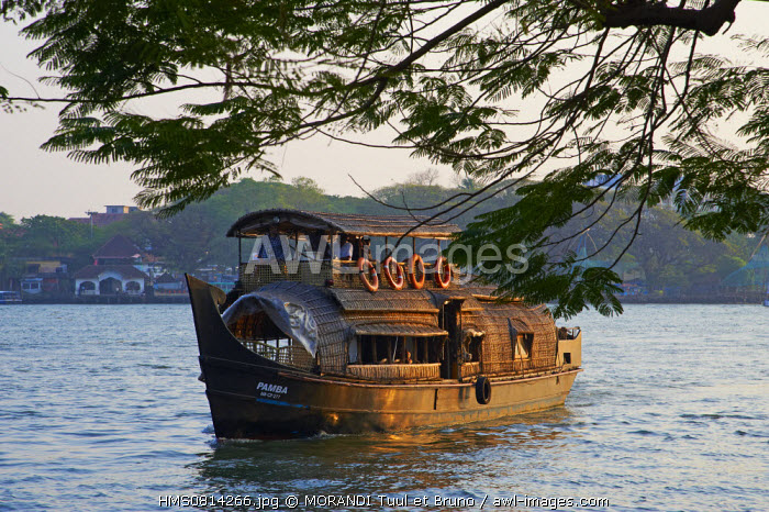 India, Kerala state, Fort Cochin or Kochi, traditional boat