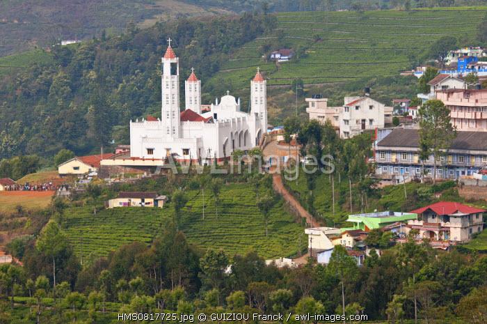 India, Tamil Nadu State, the village of Kotagiri in the Nilgiri Hills (Blue Hills)