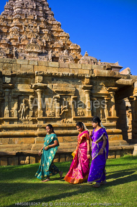 India, Tamil Nadu State, Gangaikondacholapuram, the Brihadisvara temple is part of the Great Living Chola Temples listed as World Heritage by UNESCO, built by the Chola emperor Rajendra Irst in the 11th century