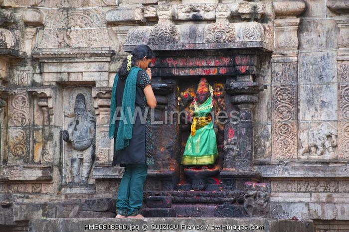 India, Tamil Nadu State, Chidambaram, the Shiva Nataraja temple (dancing Shiva), sacred place of hindouism and specially shivaism