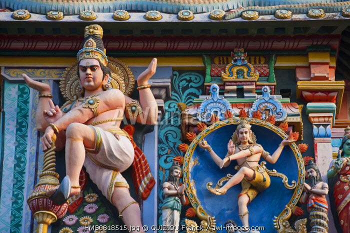 India, Tamil Nadu State, Chidambaram, the Shiva Nataraja temple (dancing Shiva), sacred place of hindouism and specially shivaism