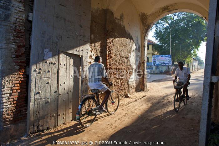 India, Tamil Nadu state, Tranquebar (Tharangambadi), danish colony from 1620 to 1845 on the Coromandel coast, the gate of the town