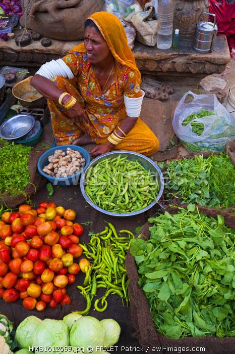India, Rajasthan state, Jaisalmer, street market