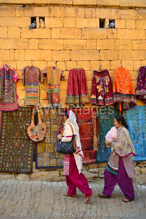 India, Rajasthan, Jaisalmer, Street shop