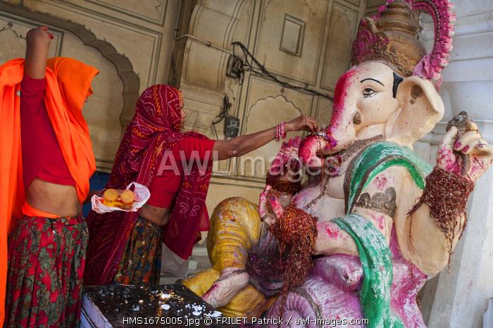 India, Rajasthan state, Jaipur, the Galta temple dedicated to the monkey god Hanuman