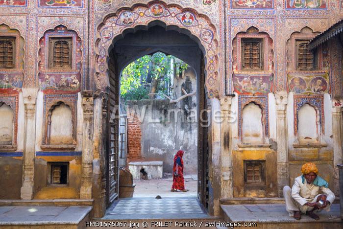 India, Rajasthan state, Shekhawati, Nawalgarh, Bhagton ki Haveli
