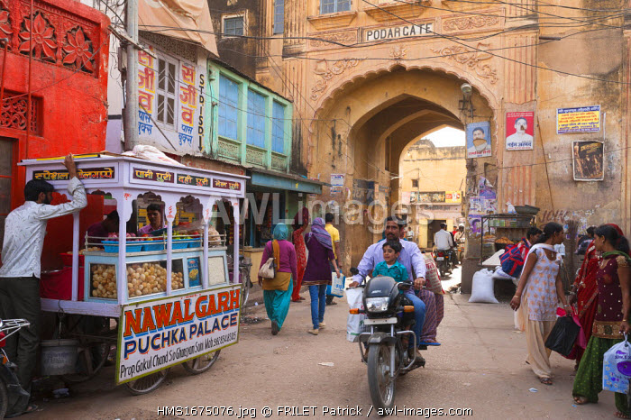 India, Rajasthan state, Shekhawati, Nawalgarh, Main Street