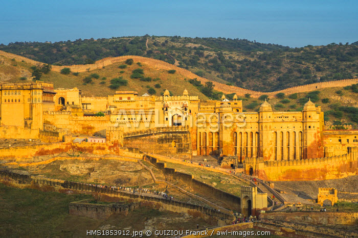 India, Rajasthan State, hill fort of Rajasthan listed as World Heritage by UNESCO, Jaipur, Amber Palace or Amber Fort