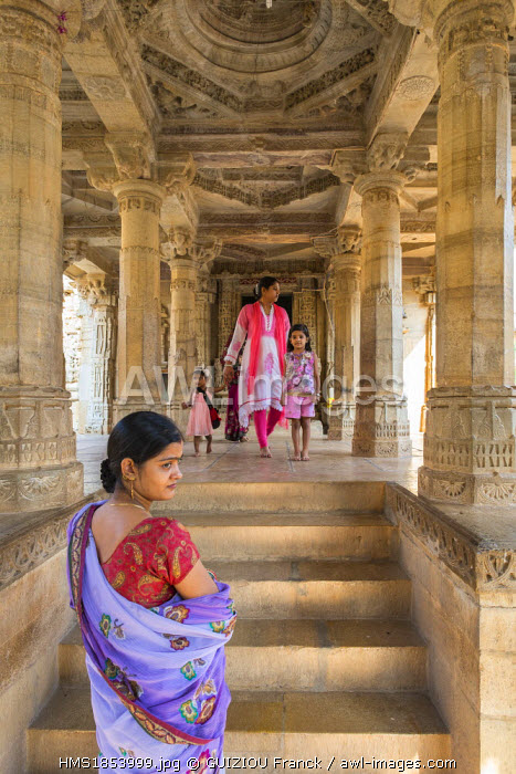 India, Rajasthan State, hill fort of Rajasthan listed as World Heritage by UNESCO, Chittorgarh, 11th century jain temple