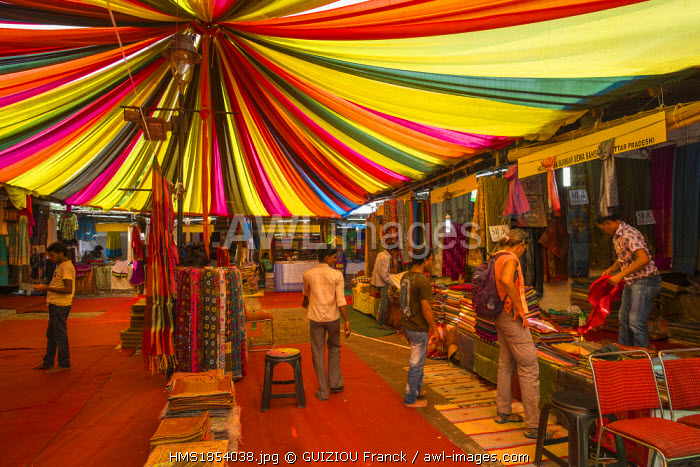 India, New Delhi, Dilli Haat is a wide range of craft shops of all states of India