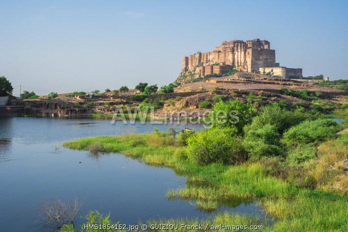 India, Rajasthan State, Jodhpur, Mehrangarh Fort of the 15th century