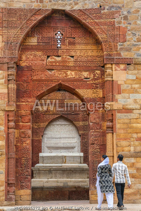 India, New Delhi, Qutab Minar complex listed as World Heritage by UNESCO, the tomb of Shams-ud-din Iltutmish from the early 13th century