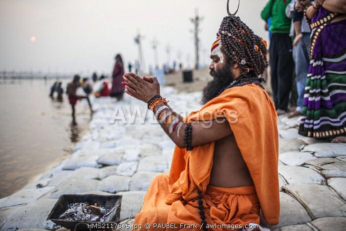 India, Uttar Pradesh state, Allahabad, Kumbh Mela biggest gathering in the world in January 2013