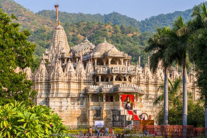 India, Rajasthan state, Ranakpur, Adinath Ja�n temple