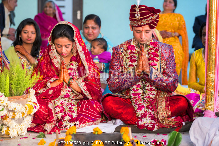 India, Rajasthan state, Jaipur, brahman hindu wedding