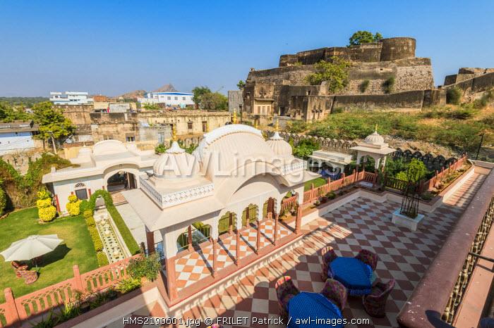 India, Rajasthan state, Shahpura, the luxury hotel Shahpura Haveli