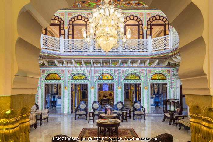 India, Rajasthan state, Shahpura, the luxury hotel Shahpura Haveli