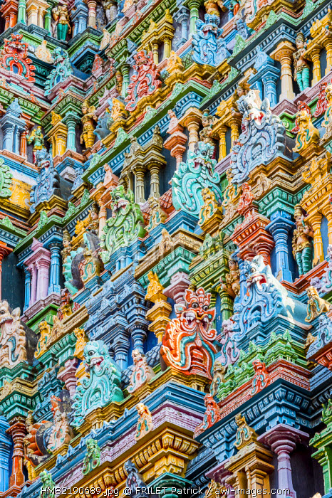 India, Tamil Nadu state, Madurai, the dravidian temple of Sri Meenakshi